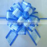 SP Handmade Blue Pull Bow Ribbon/Plastic Ribbon Pull Bow for Celebration Wedding or Wrapping Basket