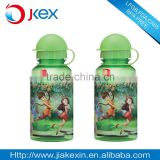 Insulated round cap suction nozzle cover children sports bottle with heat transfer printing