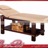 Beiqi 2016 Wholesale Supplies High-Grade Solid Wood Stationary Beauty Massage Bed with Cabinet