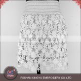 High Quality in stock cheap layered crochet ladies embroidery design sexy short mini skirt                                                                                                         Supplier's Choice