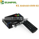 2016 best selling tv box K1 and K1 Plus Android 5.1 amlogic tv box 1GB 8GB 4K satellite receiver