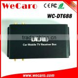 Wecaro WC-DT688 180km/h 4 tuner mobile digital tv receiver box car dvb t2 for Colombia