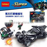 Decool 7117 306Pcs superheroes Batman Batmobile Same paragraph with LEPIN 07018 Building Bricks Toys