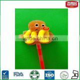 Squid Shaped Soft Glow Stick Lollipop Custom Mix Fruit Flavors Marshmallow Lollipop Candy