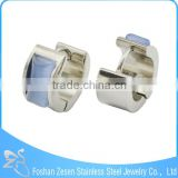 Factory direct wholesale fashion jewelry, bulk stainless steel hoop earrings, gemstone carving earrings