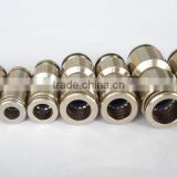 Changrong pneumatic push in fitting plastic tee coupling copper quick coupling