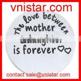 Vnistar 22mm the love between a mother and daughter is forever plate floating charm fit 30mm living memory locket AC505