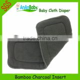 Free Shipping Baby Cloth Diaper Charcoal Bamboo Insert
