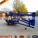 6-18m hydraulic trailer mounted boom lift/tow behind towable boom lift for sale/small boom lifts
