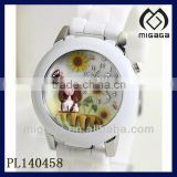 nice design cute girl's watch sunflower watch beautiful girl's watch