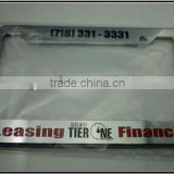 Custom Die Cast Zinc Alloy Metal License Plate Frame