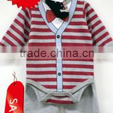 "100% Cotton Newborn Elegant Baby Clothing Gift Set Red Pinstripe Suit Infant Boys Clothing ""11"""