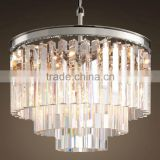 Cristal Iron Pendant Lighting Crystal Candle Chandelier Ceiling Hanging Lamps for Restaurant / Living Room CZ2526C/9