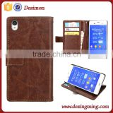 for sony z3 case, for sony xperia z3 leather case, back cover for sony xperia z3 compact