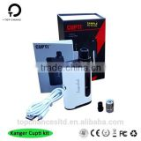 Kanger cupti 75w mod Kangertech Newest Electronics Cigarette Starter Kit All In One Style Authentic Kanger CUPTI