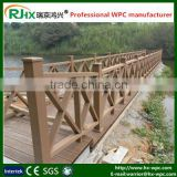 Outdoor handrailing and walking steps made of environmentally wood plastic composite decking