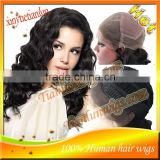 Fast Shipping Nice Deep Wave human hair lace front wig&Full Lace Wig,bleached knots with baby hair