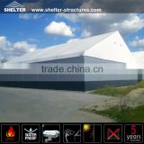 Shelter China large a shaped aluminum frame storage tent with sandwich panel wall for sale
