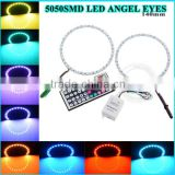Car Vehicle Headlight Lamp Bulbs Angel Eyes 5050 LED White Halo Ring Light car led light bar