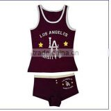 black style white print girls 2pcs sets underwear kid underwear size chart cotton underwear baby underwear