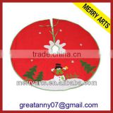 China factory custom made new exquisite rattan christmas tree skirt decoration cheap christmas tree skirts