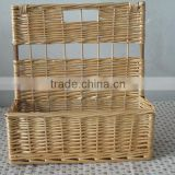 wholesale willow/wicker wall hanging book/newspaper storage basket for homeware