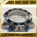 customer size OEM CNC polished stainless steel watch case 316L rotating bezel 5 ATM water resistant