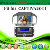 car dvd vcd cd mp3 mp4 player fit for Chevrolet Captiva 2011 with radio bluetooth gps tv pip dual zone