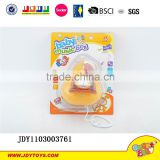 2015 popular children plastic ring pull line baby rattles toy