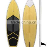 2016 Hot!!!! Epoxy resin fiberglass bamboo stand up paddle board/natural wooden paddle board                                                                                                         Supplier's Choice