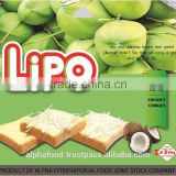 LIPO 230G Coconut brand biscuit for Breakfast and Snack with HALAL, ISO, HACCP Certification
