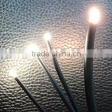 chinese manufacturer 25cores , 50cores 0.75mm multi strands end glow fiber optic cable for lighting