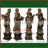 Cast Garden Four Season Bronze Statues