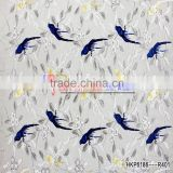 Hongming Textile Chinese Style Mesh Multicolor Bird Embroidery Lace Fabric Delicate Fabric Dress Material