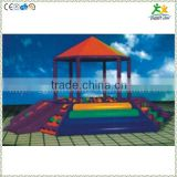 FS-SP-042J customized eco-friendly PVC & EPE & Wood kids soft ball pool house