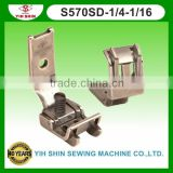 Industrial Sewing Machine In Taipei Sewing Accessories Brassiere Feet W/Guide Double Needle S570SD-1/4-1/16 Presser Foot