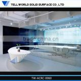 2014 morden design reception desk beauty salon custom made reception desks