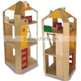 School Kids Wooden Dollhouse Pretend Play Furniture