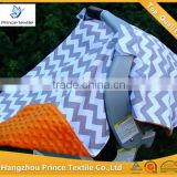 Baby Canopy Infant Grey Zig Zag With Orange Sun Protection Car Seat Cover                                                                         Quality Choice