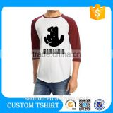 Round Neck Man Clothes Fitness Raglan Sleeve T Shirt Printing Your Own Logo Packaging China Product