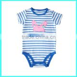 Pure cotton baby romper with crab embroidery import china baby products                                                                                                         Supplier's Choice