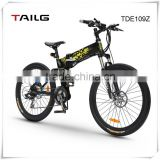 China price new design folding mountain electric bicycle cheap Tailg electric bike with disc brake for sale