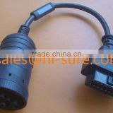 deutsch connector cable J1939 to 16PIN OBD2 for heavy truck diesel engine diagnostic scanner