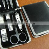 8 in 1 Vogue nail care personal manicure & pedicure set & grooming kit with leather package nailkit set UDTEK00412