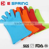 Heat Resistant Oven Mitt Rubber Long Kitchen Gloves For Cooking & BBQ for Silicon Glove
