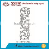 Exterior gate fence parts decorative cast aluminum, Die casting aluminum parts for fence gate