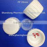 28mm white plastic screw cap for syrup cough bottles