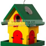 Outdoor Garden Wood BIRD HOUSE Feeder