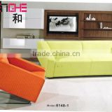 modern office sofa fashion design green PU leather sofa 8148