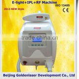 Remove Tiny Wrinkle Www.golden-laser.org/2013 New Style E-light+IPL+RF Vascular Treatment Machine Portable Ultrasonic Beauty Device Redness Removal